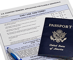 Process your US passport for fast renewal