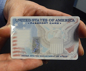 Obtain a US passport card quickly