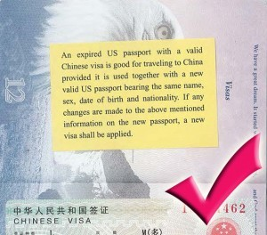 China allows travelers to use valid visas in old passports