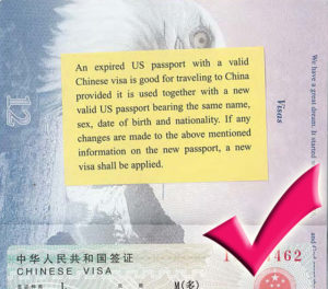 China allows travelers to use valid visas in old passports valid visa in expired passport