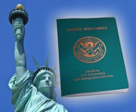 US Travel Documents can be used like passports.