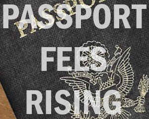 US passport fees are rising on April 2, 2018.